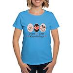 Peace Love Microbiology Women's Dark T-Shirt