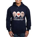 Peace Love Microbiology Hoodie (dark)