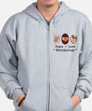 Peace Love Microbiology Zip Hoodie