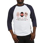 Peace Love Microbiology Baseball Jersey