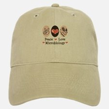 Peace Love Microbiology Baseball Baseball Cap