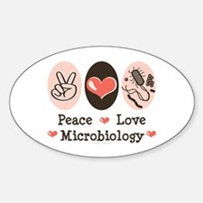 Peace Love Microbiology Oval Bumper Stickers
