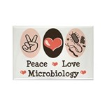Peace Love Microbiology Rectangle Magnet (10 pack)