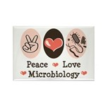 Peace Love Microbiology Rectangle Magnet