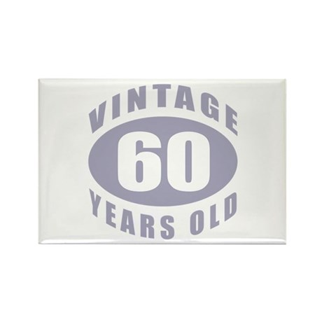 60th Birthday Gifts For Him Rectangle Magnet (100
