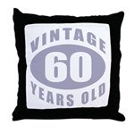 60th Birthday Gifts For Him Throw Pillow