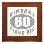 60th Birthday Gifts For Him Framed Tile