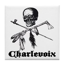 Charlevoix Pirate Tile Coaster