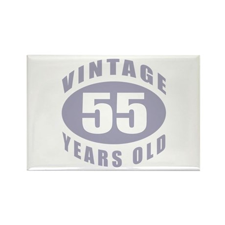 55th Birthday Gifts For Him Rectangle Magnet (100