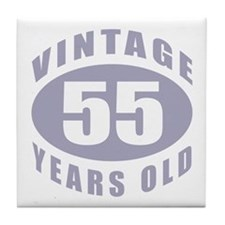 55th Birthday Gifts For Him Tile Coaster