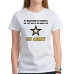 Brother Serving Draft Army Women's T-Shirt
