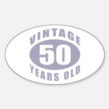 50th Birthday Gifts For Him Oval Decal