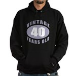 40th Birthday Gifts For Him Hoodie (dark)