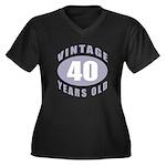 40th Birthday Gifts For Him Women's Plus Size V-Ne