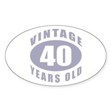 40th Birthday Gifts For Him Oval Decal