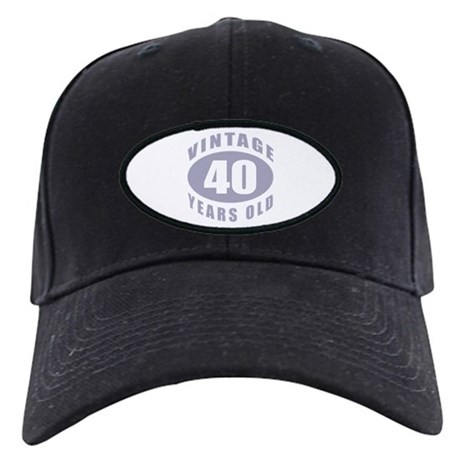 40th Birthday Gifts For Him Black Cap
