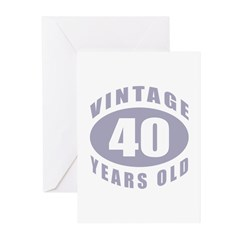 40th Birthday Gifts For Him Greeting Cards (Pk of