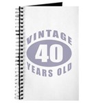 40th Birthday Gifts For Him Journal