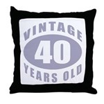 40th Birthday Gifts For Him Throw Pillow