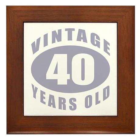 40th Birthday Gifts For Him Framed Tile