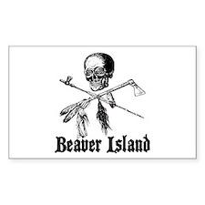 Beaver Island Pirate Rectangle Decal