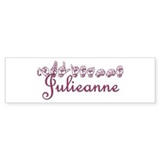 Julieanne Bumper Bumper Sticker