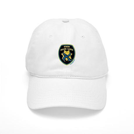 Thin Blue Line Ribbon Shield Cap