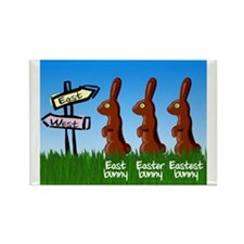 Eastest bunny Rectangle Magnet