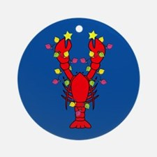 Lobster Happy Holidays! Round Ornament
