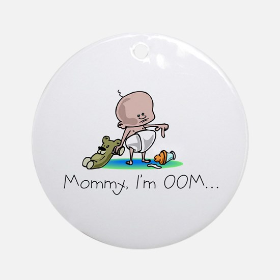 Out of Milk Design Ornament (Round)