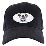 GRIN AND BEAR IT (BULLDOG FACE) Black Cap