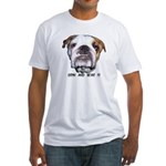 GRIN AND BEAR IT (BULLDOG FACE) Fitted T-Shirt