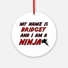 my name is bridget and i am a ninja Ornament (Roun