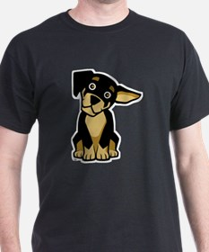 Rottweiler Puppy Black T-Shirt