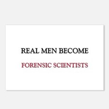 Real Men Become Forensic Scientists Postcards (Pac