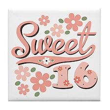 Pretty Pink Sweet 16 Tile Coaster