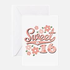 Pretty Pink Sweet 16 Greeting Card