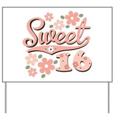 Pretty Pink Sweet 16 Yard Sign