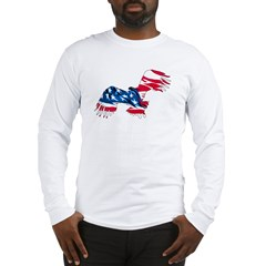 Red White Blue Eagle Long Sleeve T-Shirt