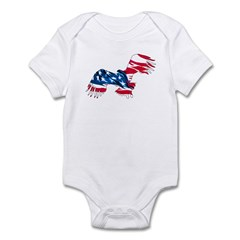 Red White Blue Eagle Infant Creeper