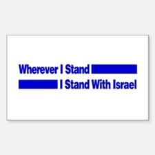 I Stand With Israel Rectangle Decal