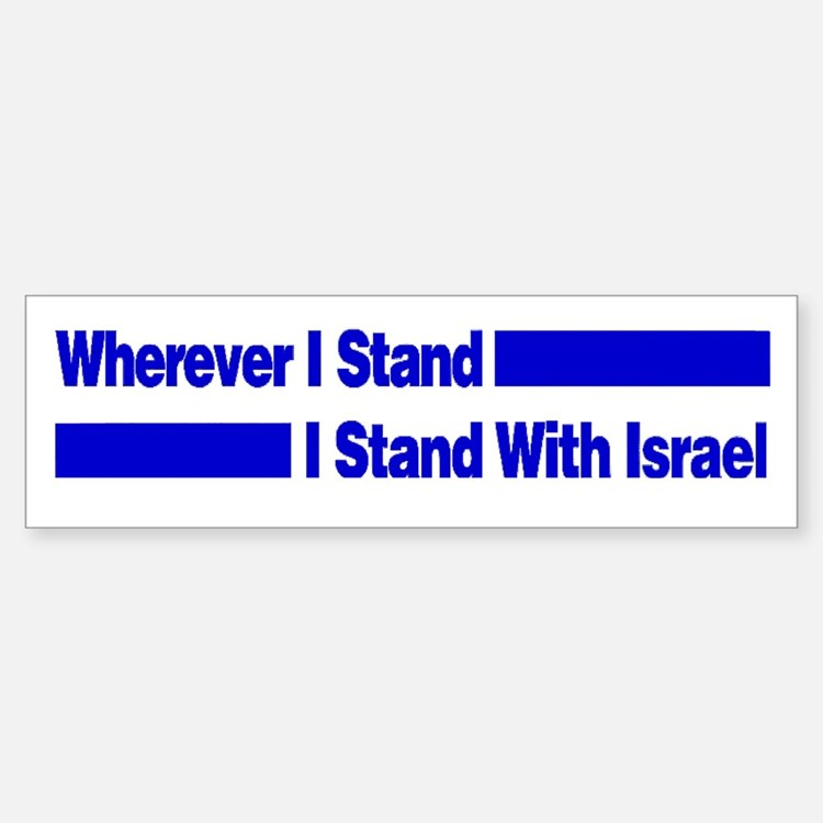I Stand With Israel Bumper Bumper Bumper Sticker