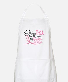 Pink For My Hero 3 DAUGHTERINLAW BBQ Apron