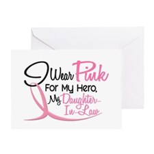 Pink For My Hero 3 DAUGHTERINLAW Greeting Card