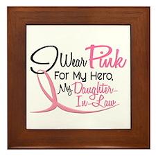 Pink For My Hero 3 DAUGHTERINLAW Framed Tile