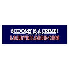 Sodomy Is A Crime Bumper Bumper Sticker