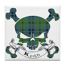 Keith Tartan Skull Tile Coaster