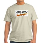 Christian/Darwin Fish Ash Grey T-Shirt