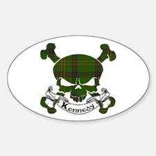 Kennedy Tartan Skull Decal