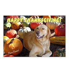 Golden Retriever Thanksgiving Postcards (Package o